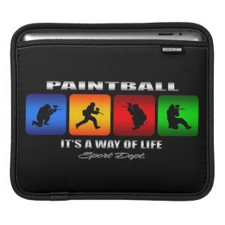 Cool Paintball It Is A Way Of Life iPad Sleeve