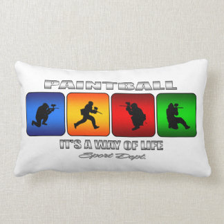 Cool Paintball It Is A Way Of Life Lumbar Pillow