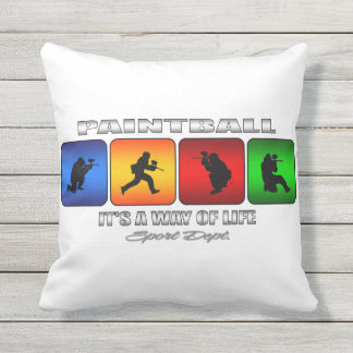 Cool Paintball It Is A Way Of Life Outdoor Pillow