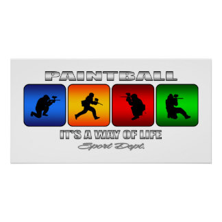 Cool Paintball It Is A Way Of Life Poster