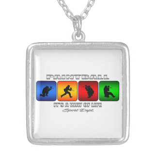 Cool Paintball It Is A Way Of Life Silver Plated Necklace
