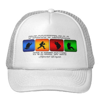 Cool Paintball It Is A Way Of Life Trucker Hat
