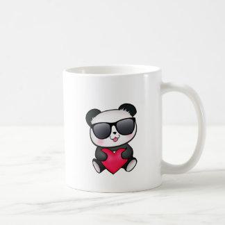 Cool Panda Bear Sunglasses Valentine's Day Heart Classic White Coffee Mug