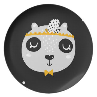 Cool Panda Melamine Kids Plate