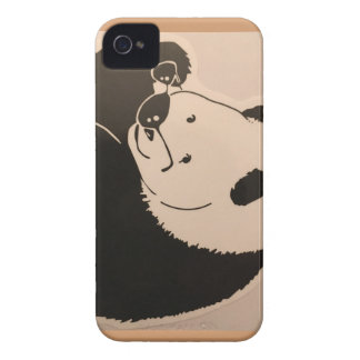 Cool Panda with Shades iPhone 4 Case