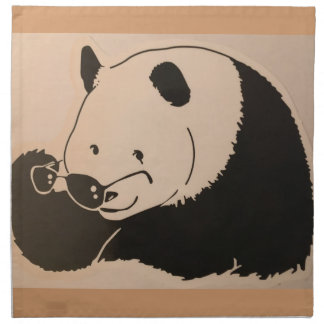 Cool Panda with Shades Napkin