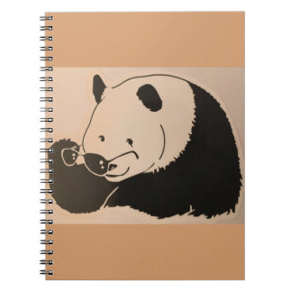 Cool Panda with Shades Notebook