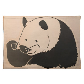 Cool Panda with Shades Placemat