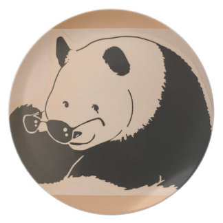 Cool Panda with Shades Plate