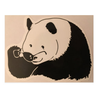 Cool Panda with Shades Postcard