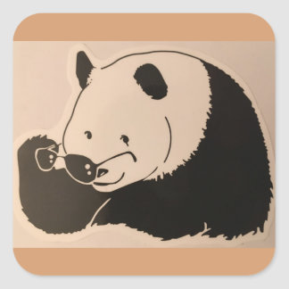 Cool Panda with Shades Square Sticker