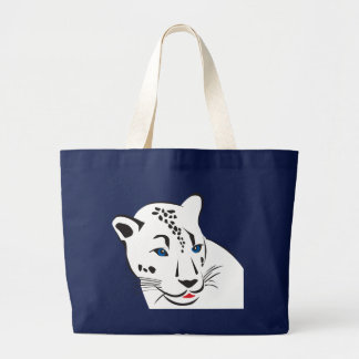 Cool Panther Large Tote Bag