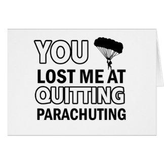 Cool parachute  designs card