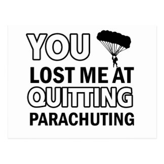 Cool parachute  designs postcard