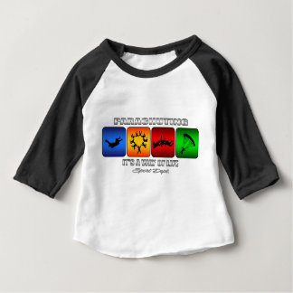 Cool Parachuting It Is A Way Of Life Baby T-Shirt