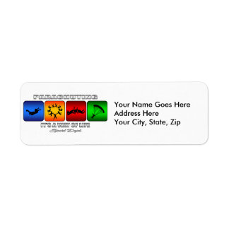 Cool Parachuting It Is A Way Of Life Return Address Label