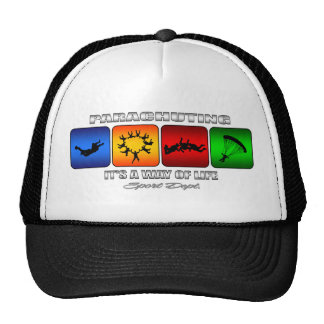Cool Parachuting It Is A Way Of Life Trucker Hat