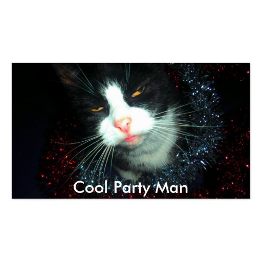 cool party man hic, Cool Party Man Business Card Template