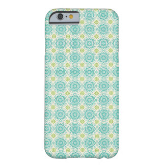 Cool Pastel Blue Retro Circle Pattern Easter Barely There iPhone 6 Case