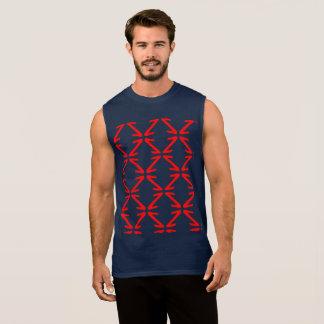 Cool Pattern Sleeveless Shirt