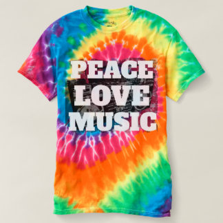 Cool Peace Love Music Retro Distressed Boombox T-shirt