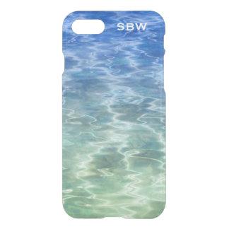 Cool Peaceful Blue Green Ocean Water Monogram iPhone 7 Case