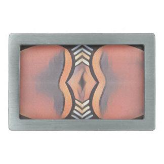 Cool Peach Gray Modern Artistic Abstract Belt Buckle