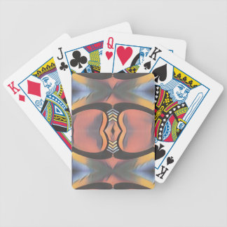 Cool Peach Gray Modern Artistic Abstract Bicycle Playing Cards