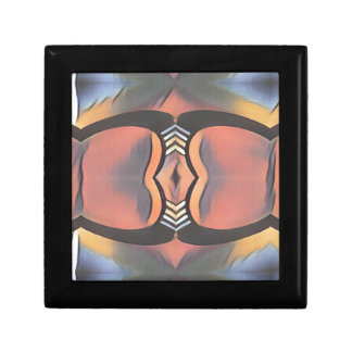 Cool Peach Gray Modern Artistic Abstract Gift Box