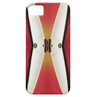 Cool Peach White Modern Abstract Butterfly iPhone 5 Cover