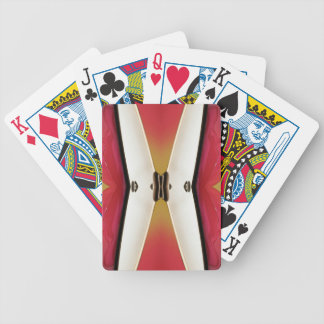 Cool Peach White Modern Abstract Butterfly Poker Deck