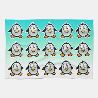 Cool Penguins Cartoon Hand Towels