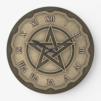 cool pentagram celtic style large clock
