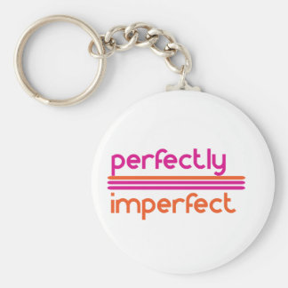 Cool perfectly imperfect keychain