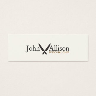 Cool Personal Chef Knife Simple Catering Mini Business Card