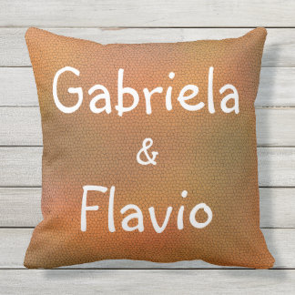 Cool Personalized Couple's First Name Throw Pillow