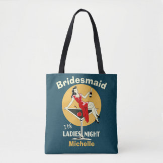 Cool personalized girls night out tote bag