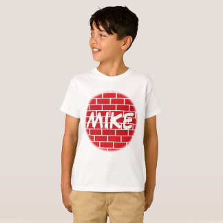 Cool personalized Name on red Graffiti Brick Wall T-Shirt