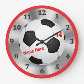 Cool Personalized Soccer Clock for Soccer Bedrooms