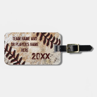 Cool Personalized Vintage Baseball Luggage Tags