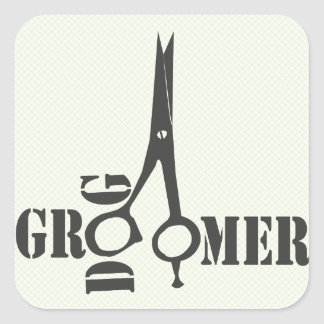 Cool Pet Stylist Animal Salon Groomer Square Sticker