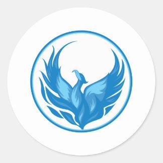 Cool Phoenix Bird Design Classic Round Sticker