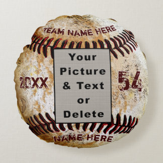 Cool Photo and Personalized Baseball Pillow