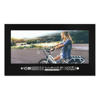 Cool photography camera viewfinder modern black pack of standard business cards