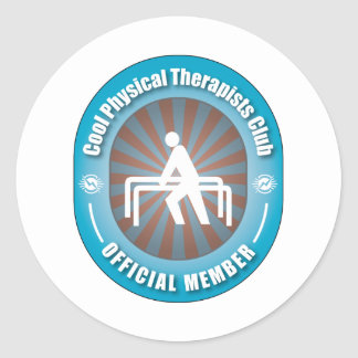 Cool Physical Therapists Club Classic Round Sticker