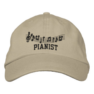 Cool Pianist Cap Baseball Cap