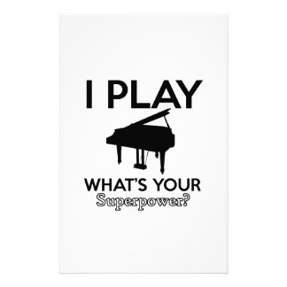 cool piano designs stationery