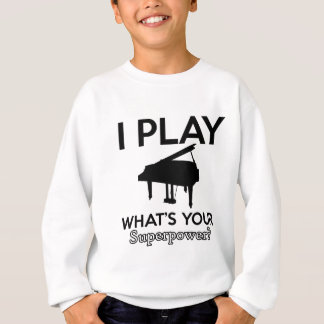 cool piano designs sweatshirt