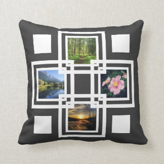 Cool Pics Stacked Geometric Squares Any Color Throw Pillow