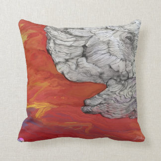 """Cool pillow of """"Unfinished"""" by Yuri Fidelis"""